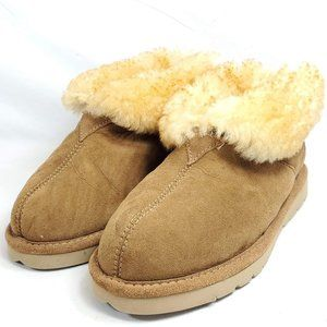 Cabelas Moccasins Booties Womens 5 Shearling Lined